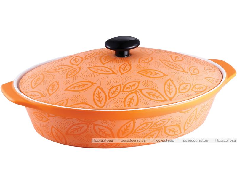 Кастрюля-гусятница керамическая VaBene Orange 3,4л с крышкой