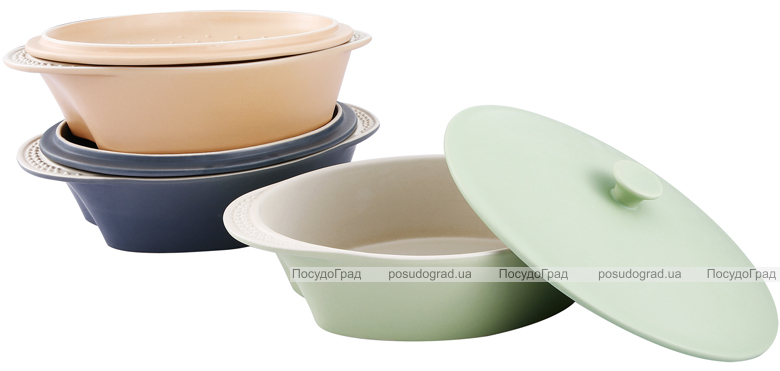 Кастрюля VaBene Ceramics Hill 1,9л 34х23см с крышкой