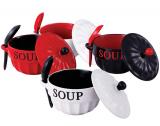 Набор для супа VaBene O'Diva 680мл цветная миска с крышкой и ложкой