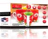 """Набор кружек VaBene Breezy """"Classic Coffee"""" 4 керамические кружки 350мл на подставке"""