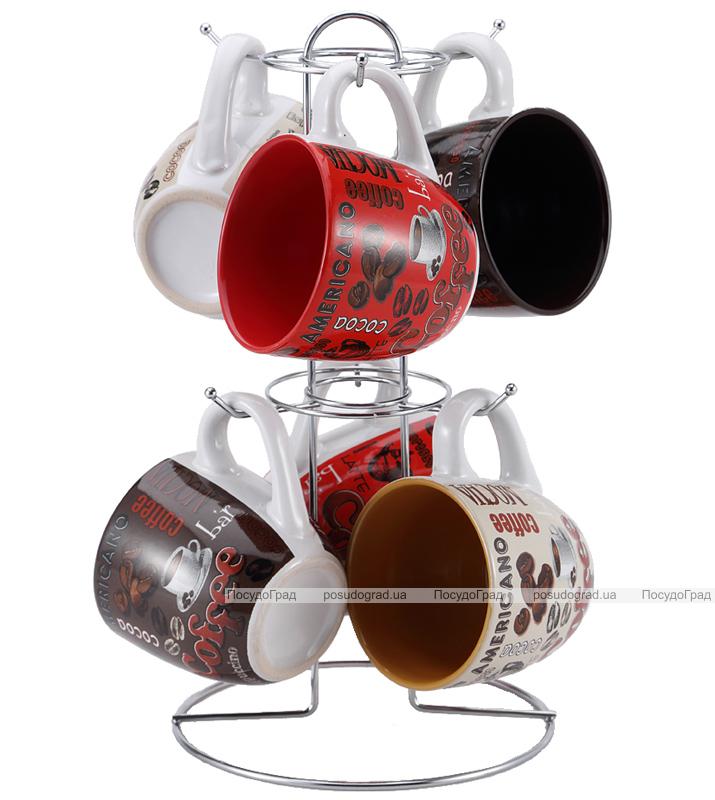 """Набор чашек VaBene """"Classic Coffee"""" 220мл 7 предметов"""