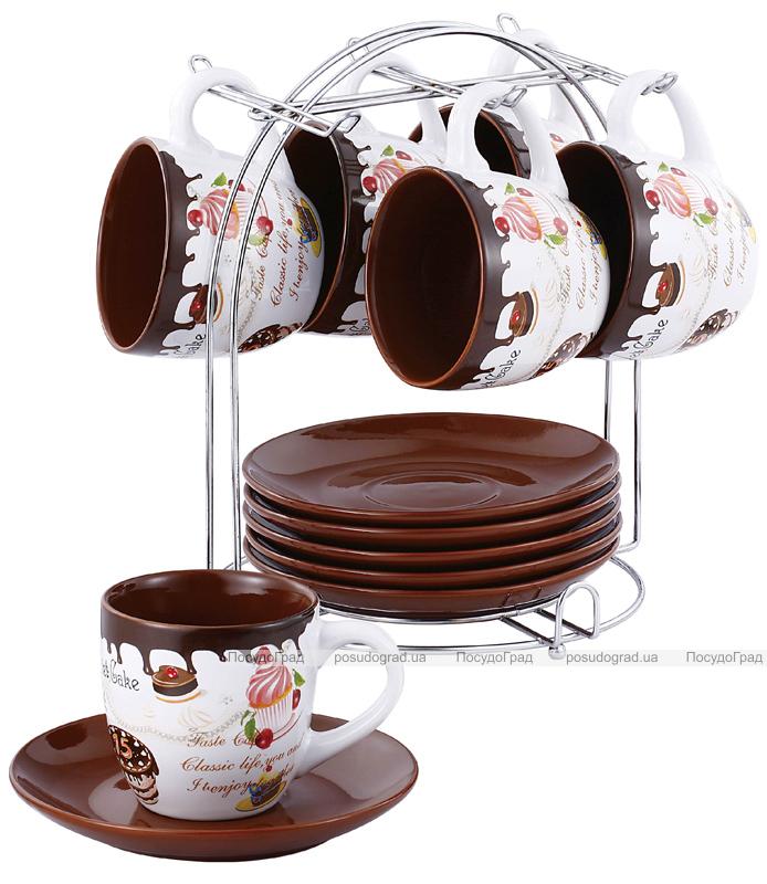 """Чайно-кофейный набор VaBene """"Пирожные"""" 220мл 13 предметов"""