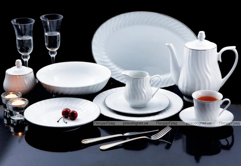 """Столовый сервиз VaBene """"Trianon Silver"""" 47 предметов на 8 персон"""