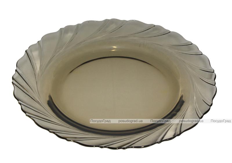 Обеденный набор Verona 44+1 предметов темное стекло