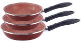 Набір 3 сковороди Vitrinor Toscana Terracota Ø18см, Ø20см. Ø24см
