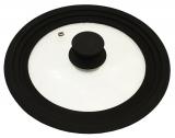 Кришка універсальна Vitrinor Spain Black 18/20/22см скляна з силіконовим обідком