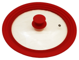 Кришка універсальна Vitrinor Spain Red 18/20/22см скляна з силіконовим обідком