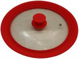 Кришка універсальна Vitrinor Spain Red 24/26/28см скляна з силіконовим обідком