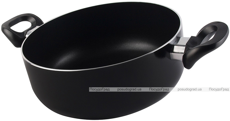 Кастрюля Vitrinor Vitral Black 3.9л эмалированная со стеклянной крышкой