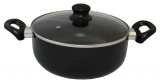 Каструля Vitrinor Vitral Black 3.5л емальована зі скляною кришкою