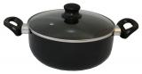 Кастрюля Vitrinor Vitral Black 3.5л эмалированная со стеклянной крышкой