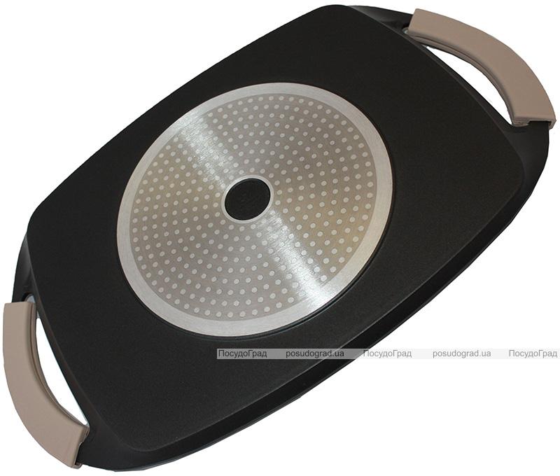 Противень-гриль Vitrinor Piastra Pietra 47х28см с гранитным покрытием, индукционное дно
