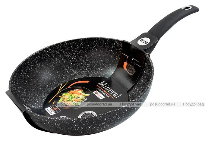 Сковорода-вок Vitrinor Mineral Black Ø28см с гранитным антипригарным покрытием