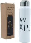 Термос My Bottle 300мл белый со стальной крышкой