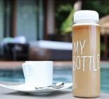 Бутылка My Bottle 500мл, белая + льняной чехол