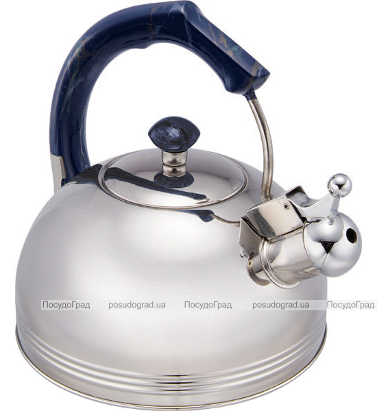 Чайник Wellberg Whistling Мрамор 2.3 литра со свистком