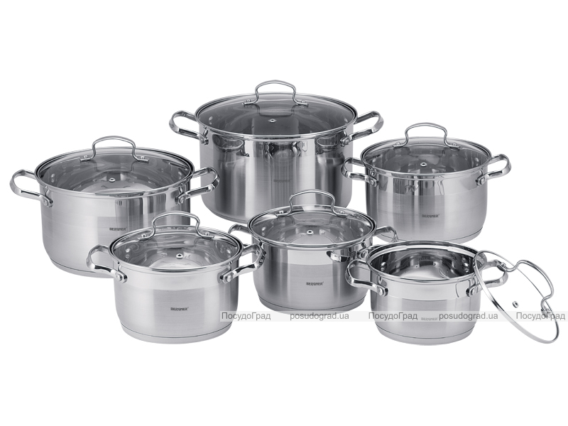 Набор кухонной посуды Wellberg Legend-A 6 кастрюль с крышками