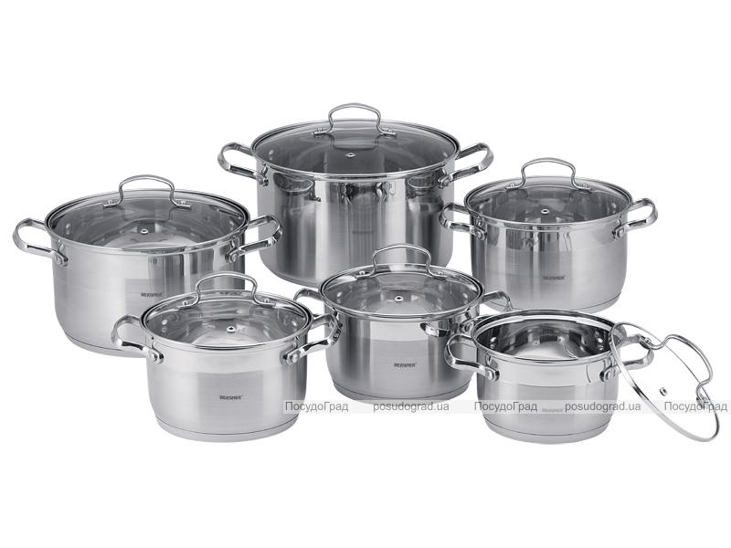 Набор кухонной посуды Wellberg Legend-B 6 кастрюль с крышками