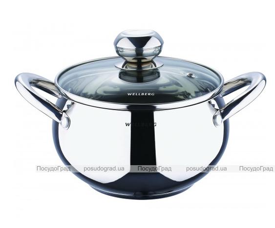 Кастрюля Wellberg Apple Pot 4,1л зеркальные ручки