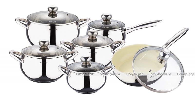 Набор кухонной посуды Wellberg Apple Pot 12 предметов