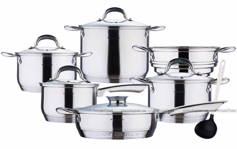 Набор кастрюль Wellberg Big Cook 12 предметов