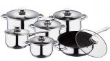 Набор кухонной посуды Wellberg Ease Steel Gold 12 предметов
