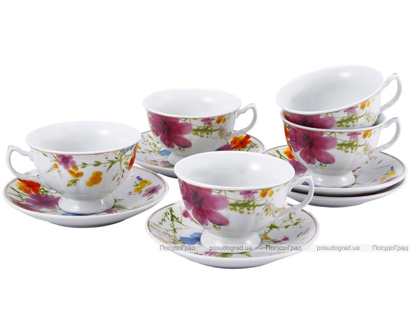 Чайный набор Wellberg Splendid 220мл 12 предметов, полевые цветы