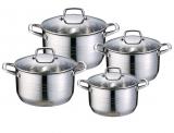 Набор кухонной посуды Wellberg Weimar с 9-тислойным дном, 4 кастрюли