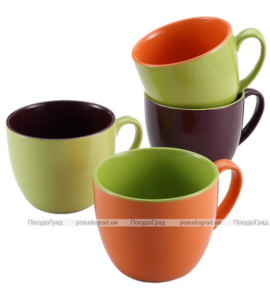 Набор кружек Wellberg Colore 580мл 4 цветные кружки