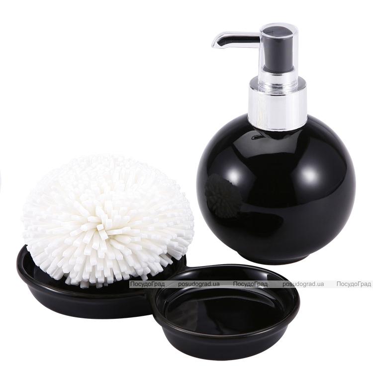 Дозатор для жидкого мыла с подставкой для губки 12604