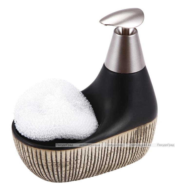 Дозатор для жидкого мыла с подставкой для губки 12606