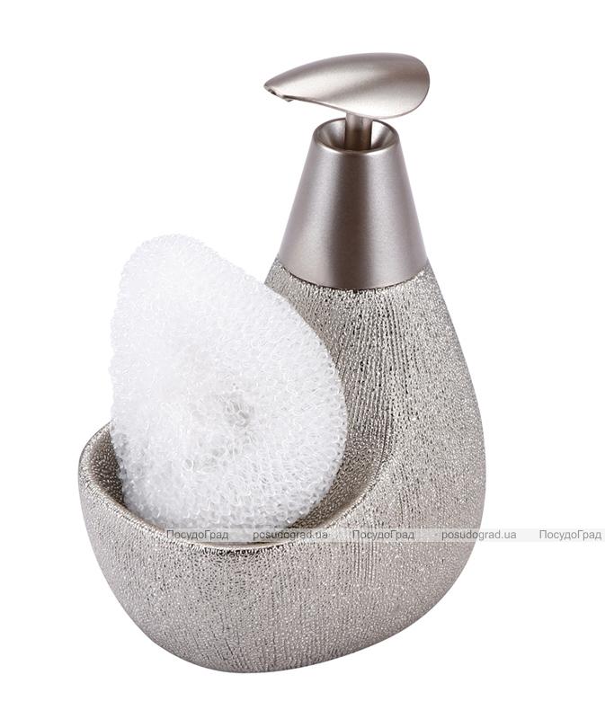 Дозатор для жидкого мыла с подставкой для губки 12607