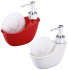 Дозатор для жидкого мыла с подставкой для губки 12608