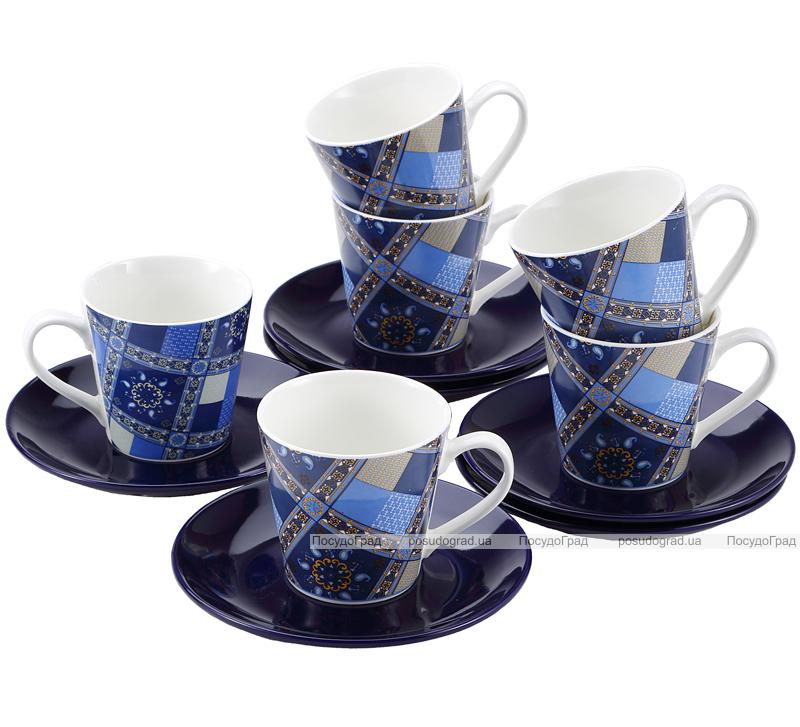 Чайный набор Wellberg Pascal 6 чашек 240мл и 6 блюдец
