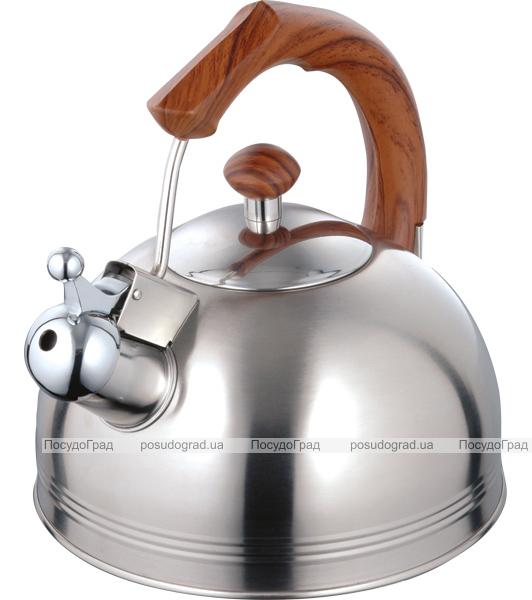 Чайник Wellberg Whistling Дерево 2.3 литра со свистком