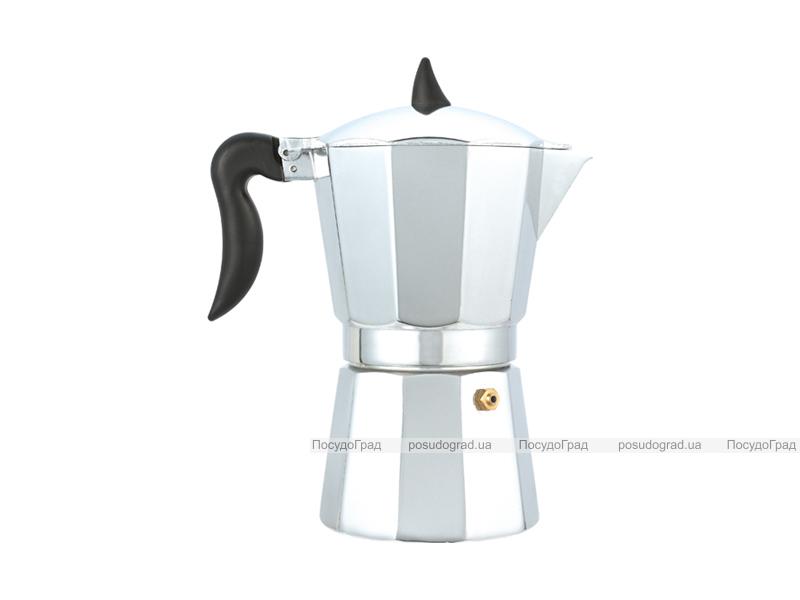 Гейзерная кофеварка Wellberg Pronto эспрессо 150мл на 3 чашки