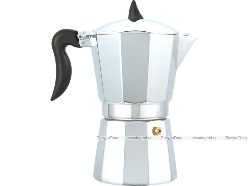 Гейзерная кофеварка Wellberg Pronto эспрессо 450мл на 9 чашек