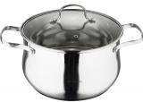 Кастрюля Wellberg Style Pot 6.6л нержавейка со стеклянной крышкой
