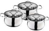 Набір 3 каструлі Wellberg Style Pot 2л, 2.9л, 3.9л з кришками