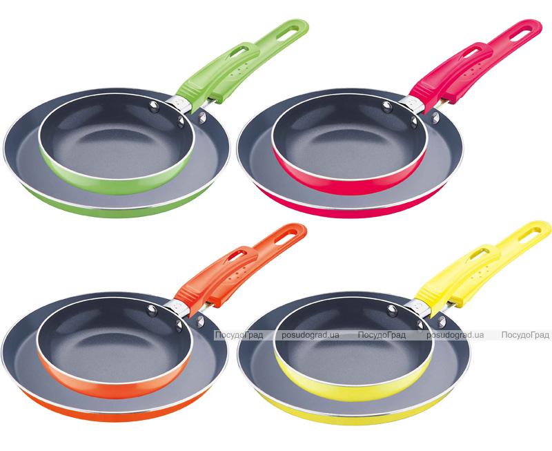 Набор сковородок Wellberg для блинов Ø22см и оладушек Ø14см