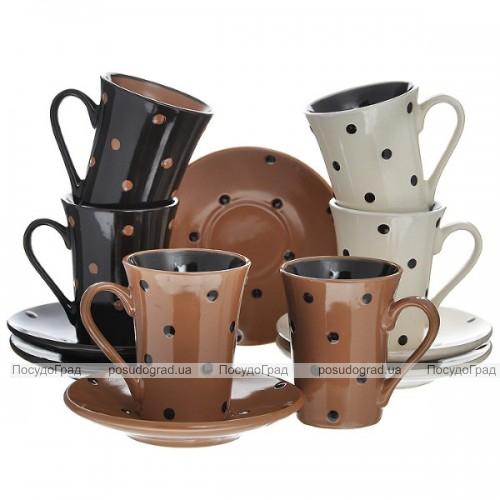 Кофейный набор Wellberg O'Diva 180мл 12 предметов