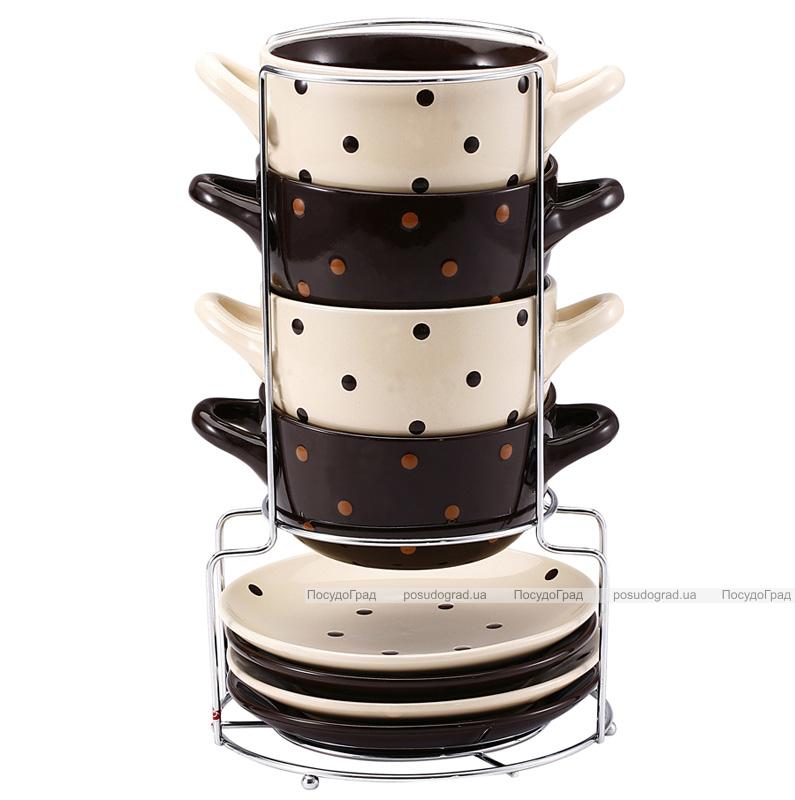 Набор суповых мисок Wellberg O'Diva 400мл 9 предметов