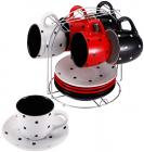 Чайний набір Wellberg Segafredo 6 чашок 220мл і 6 блюдець на підставці