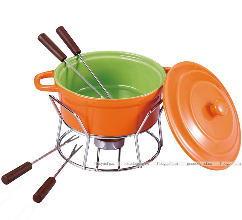 Набор для фондю Fondue Chocolate 7 предметов с крышкой, оранжевая