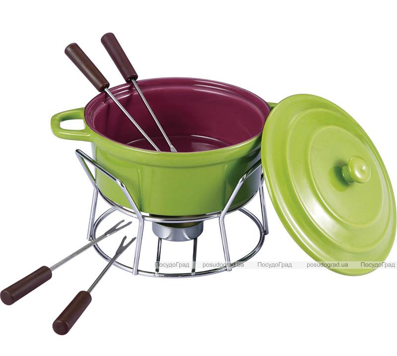 Набор для фондю Fondue Chocolate 7 предметов с крышкой, зеленая