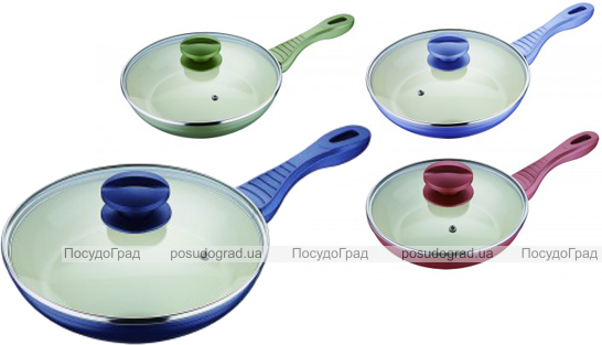 Сковорода Colorito Wellberg Ø22см с кремовым керамическим покрытием
