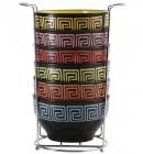 Набор пиал Wellberg Vertigo 6 керамических пиал 680мл на подставке