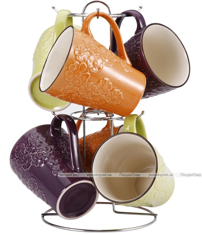 Набор кружек Expression 320мл 7 предметов на хромированной подставке
