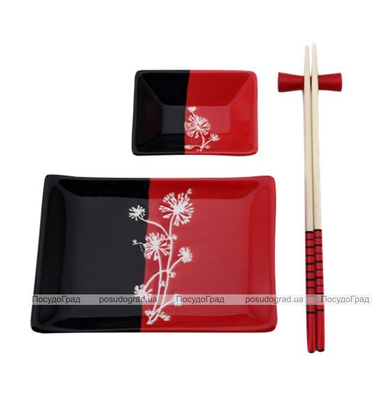 Набор для суши Wellberg Red&Black 4 предмета