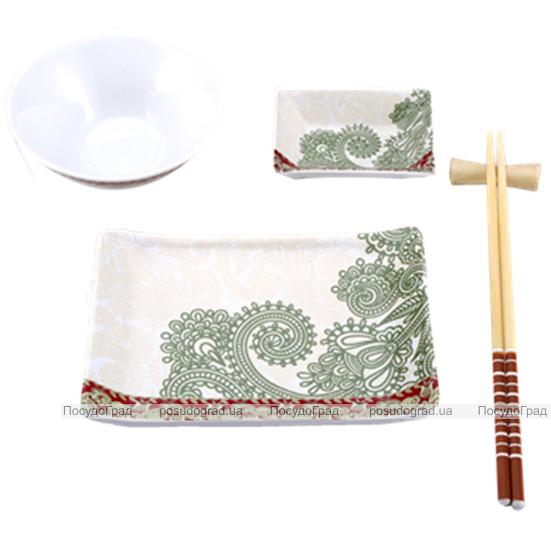 Набор для суши Wellberg Sakura Broun 5 предметов